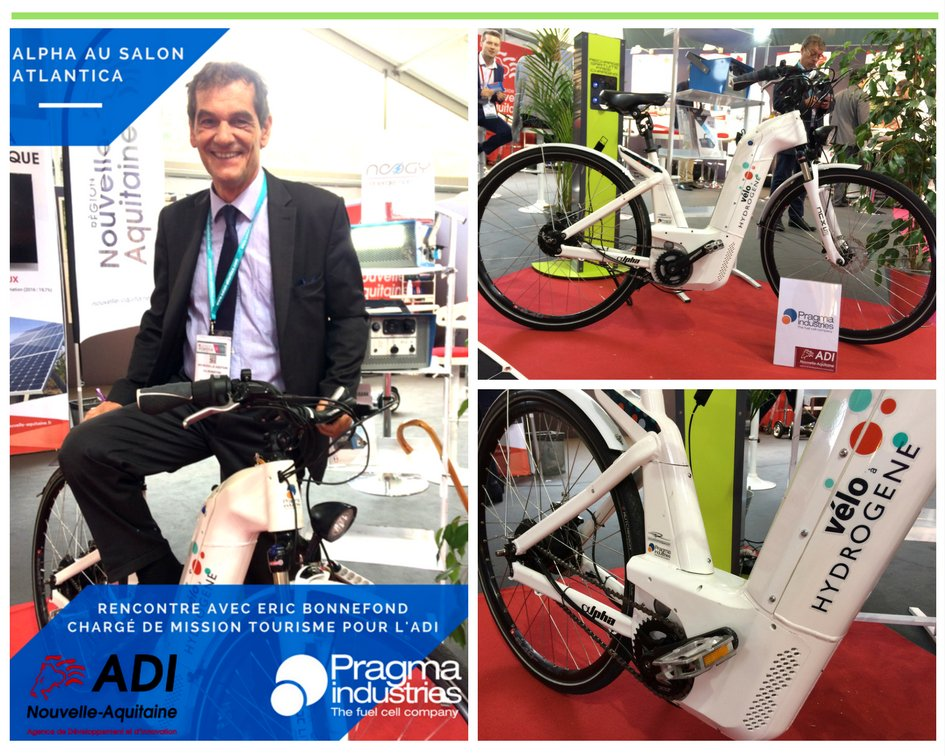 Vélo Alpha au salon Altantica. Rencontre avec Eric Bonnefond, chargé de mission tourisme ADI @NvelleAquitaine #H2now