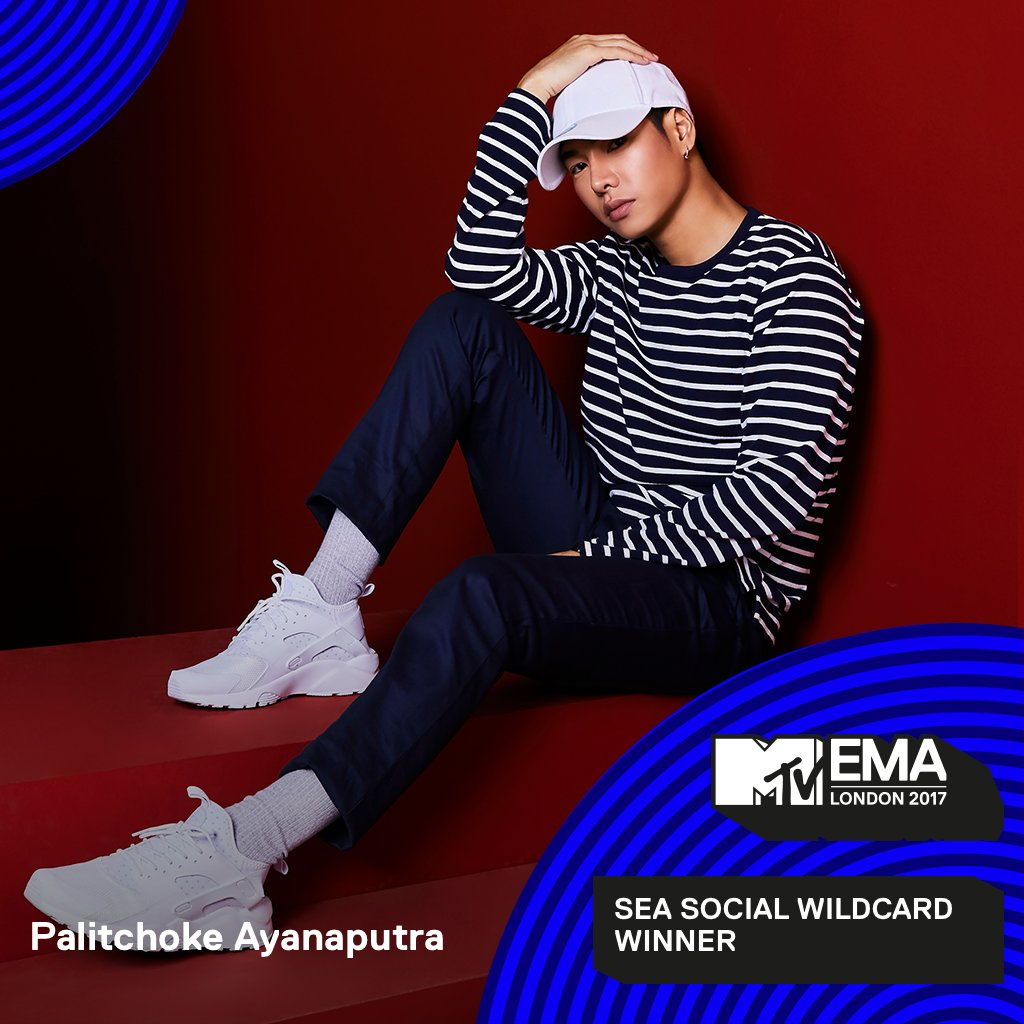 Presenting your @mtvema SEA Social Wildcard Winner -> ! 😍@peckpalit👏💯 Kudos to fans who voted fiercely for him! CONGRATULATIONS  🎉 #MTVEMA