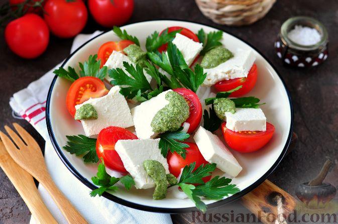 Рецепт салата с креветками и руколой