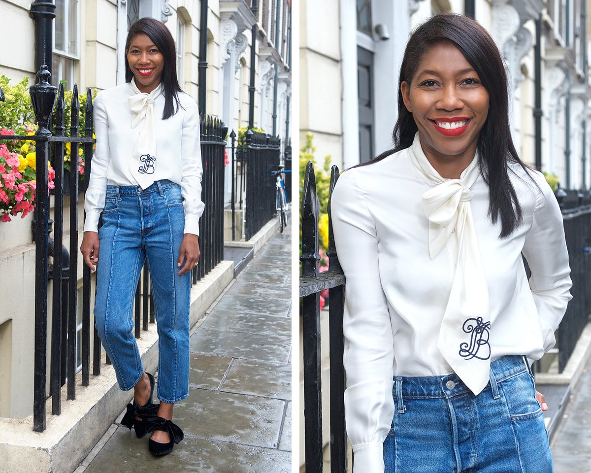 0acd3737c76fc8 ElleUK editor  KenyaNHunt in our Jane bow blouse and Clara flats   ToryStoriespic.twitter.com eHmlMzI5Mh