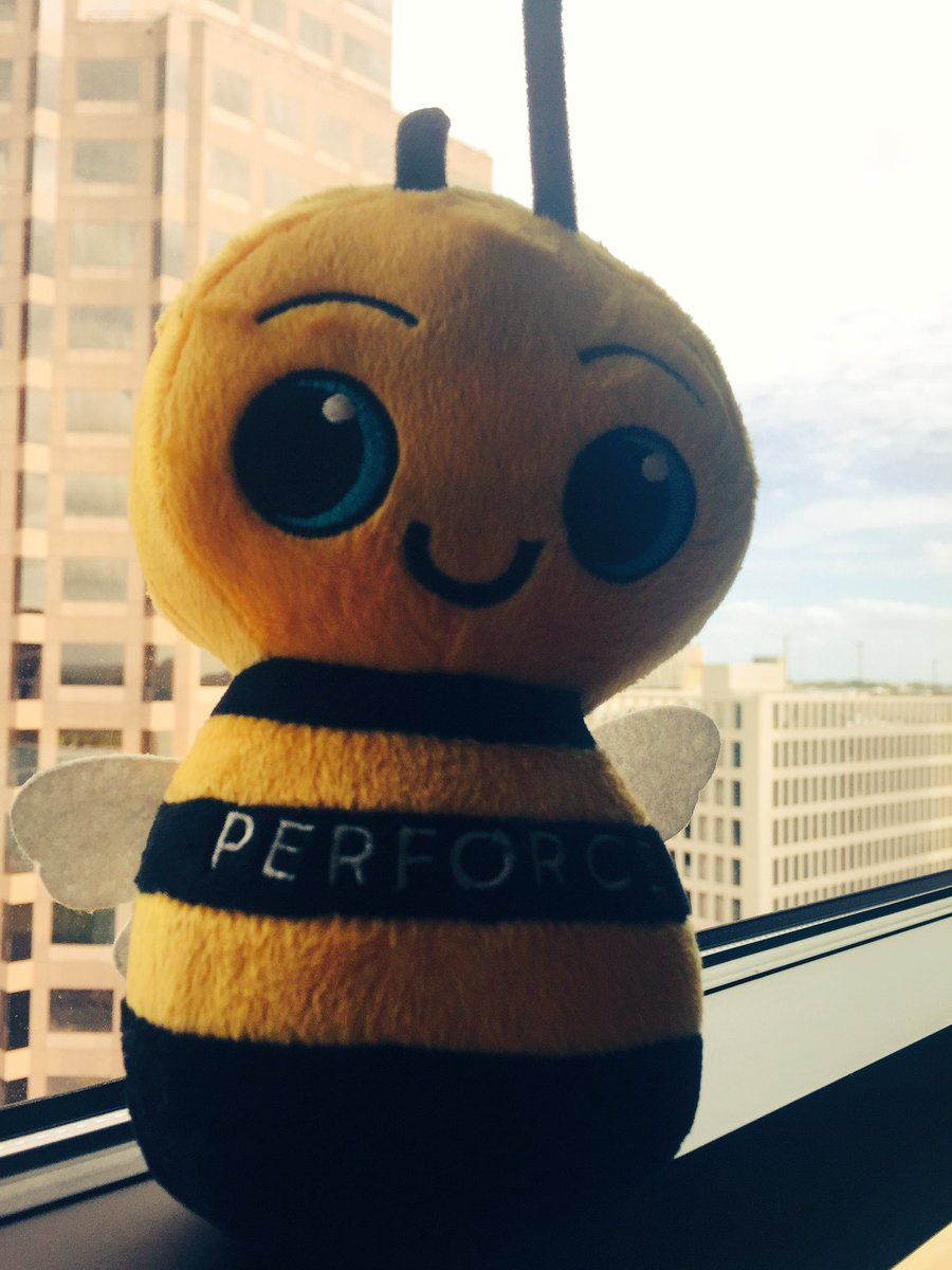Had a fun chat with @perforce at #UniteAustin today. 1. Thanks for the help with streams. 2. Thanks for this cute ass bee.  #TDLatUnite