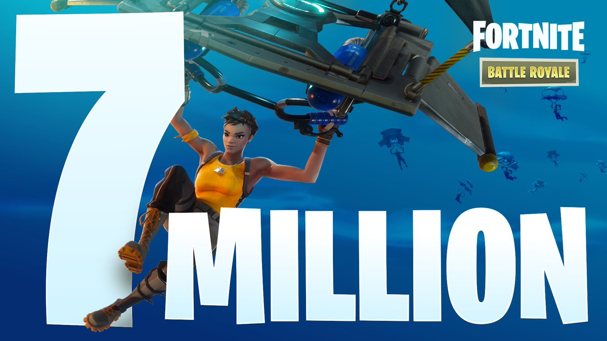 Fortnite On Twitter Thanks To Over 7 Million Of You Who Have