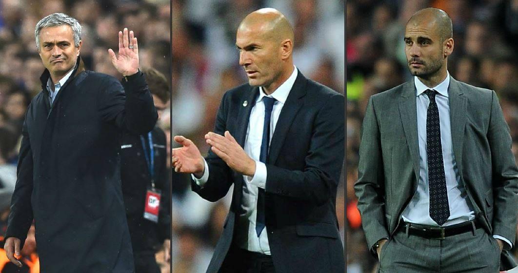 Resultado de imagen para mourinho, zidane y pep