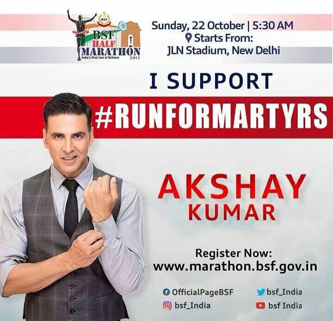 Extend your support for the real life heroes of @BSF_India, register now on https://t.co/2GRggK8wqZ! I support #RunForMartyrs, do you? https://t.co/8zaYQW6qjj