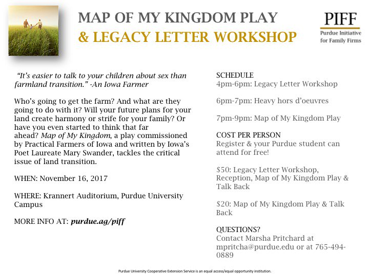 purdue ag econ on twitter piffs event map of my kingdom to debut in november click here to learn more httpstco0nur847yhb