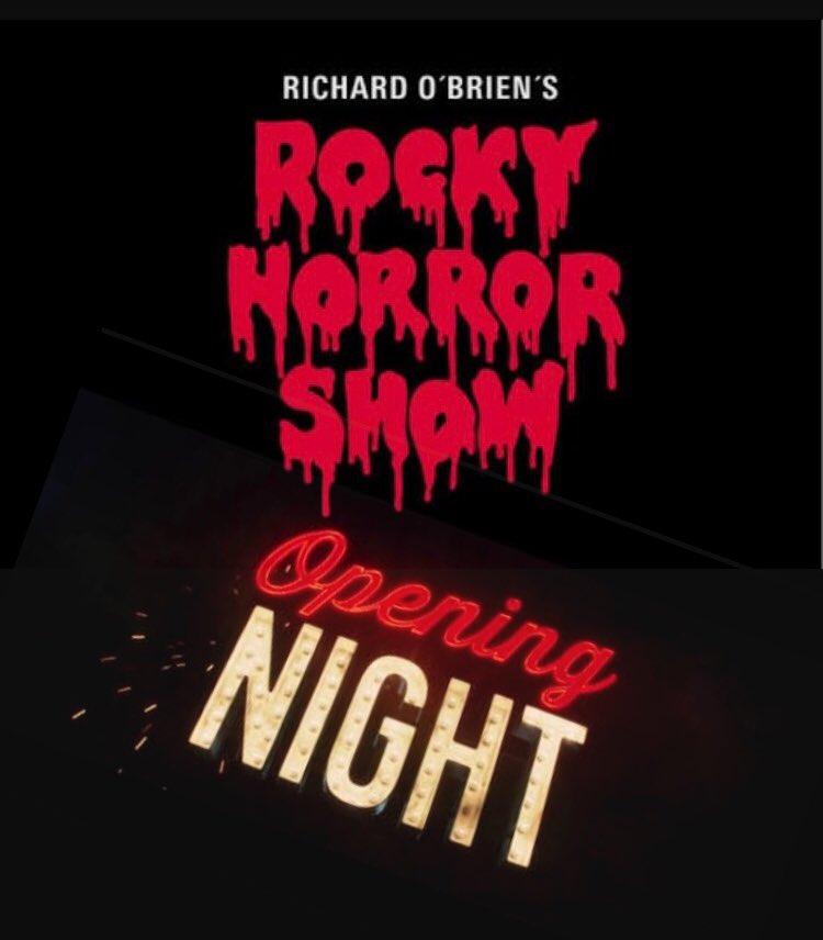 Wishing @smisaacs45 an amazing first night in @RockyHorrorEU