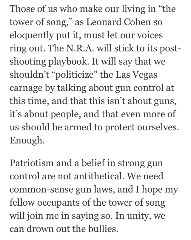 Rosanne Cash in the New York Times today saying what needs to be said. Thank God for you, Rose. You're my hero. https://t.co/uF2kL1aHlu