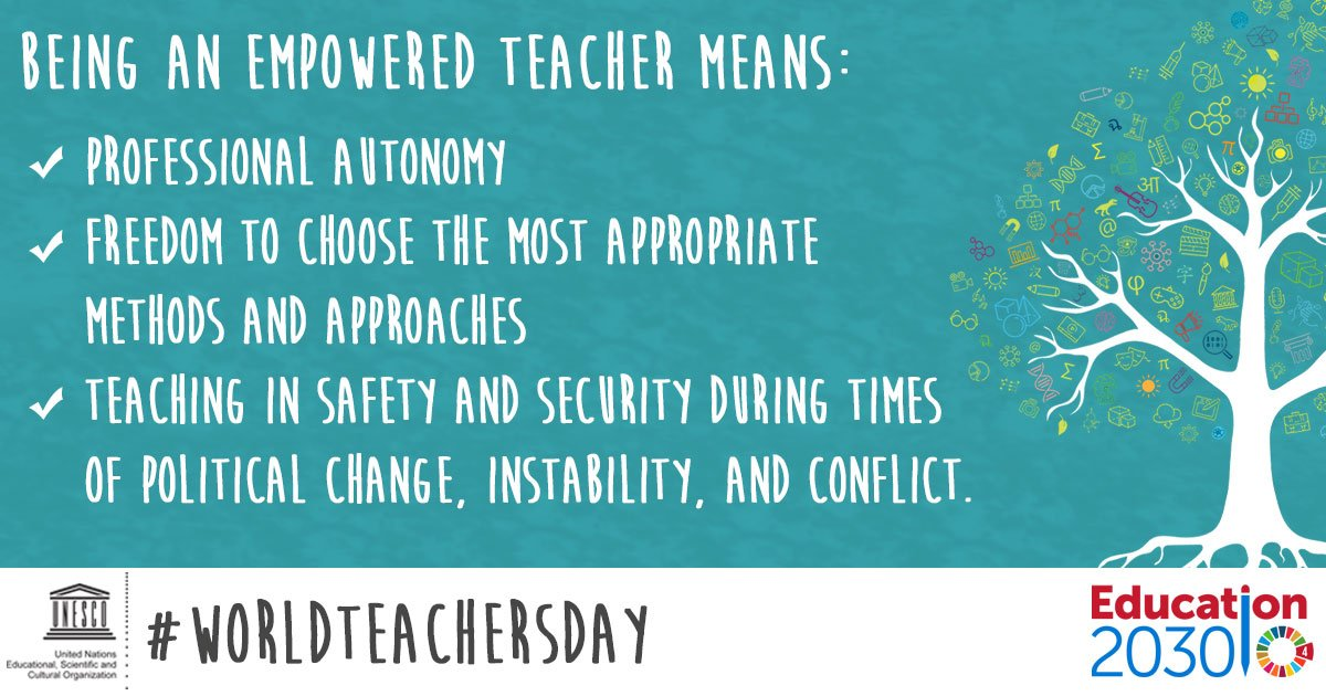 unesco on twitter this year s worldteachersday will be about