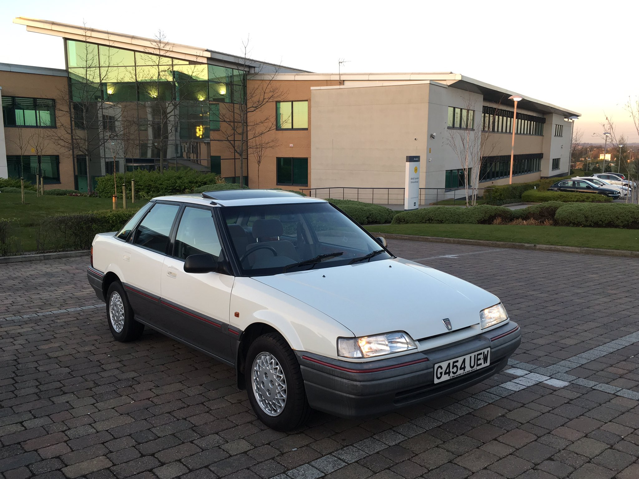 "Paul on Twitter: ""FS: Rover 416 GSi, 1990 G-reg, 29k, FSH, GTi lattice alloys, rare air con, everything works, excellent cond, £1,300 ono."