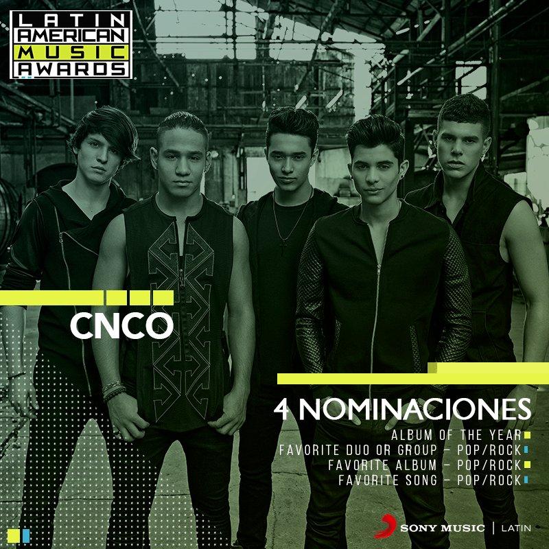 #CNCOwners, ¿ya votaron por @CNCOmusic en los @LatinAMAs?