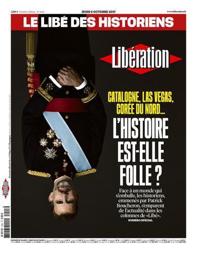 Le roi d'Espagne, placé tête en bas, par le journal @libe #Catalunya https://t.co/rdfqm9mAlB