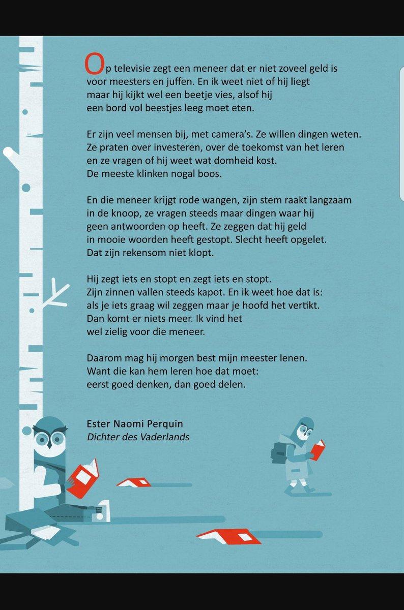 Rianne Letschert على تويتر Mooi Gedicht Van Dichter Des