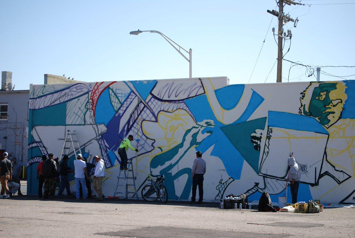 City Of Aurora Co On Twitter Talented Local Muralist Bimmer