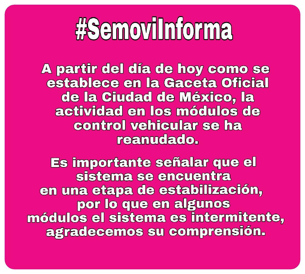 Secretaría De Movilidad Cdmx A Twitter Semoviinforma