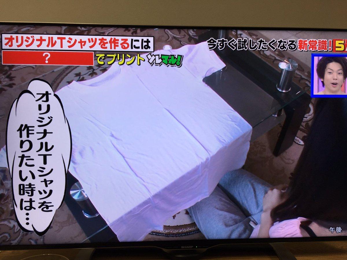 昨日テレビで見たカラーコピーに日焼け止め塗りたくって白Tに押し付けてアイロンかけるとオリジナルTシャツできるやつ!ある層に需要ありそうだなって