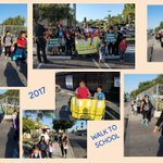 Thank you families, students, staff members, and @AnaheimPD for walking to school today! #LoaraLeopards