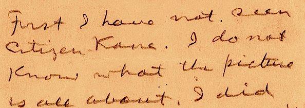 RT @Wellesnetcom William Randolph Hearst letter on Orson Welles & CITIZEN KANE is on auction block this month @LionHeartInc    https://t.co/cvlNdpOaye