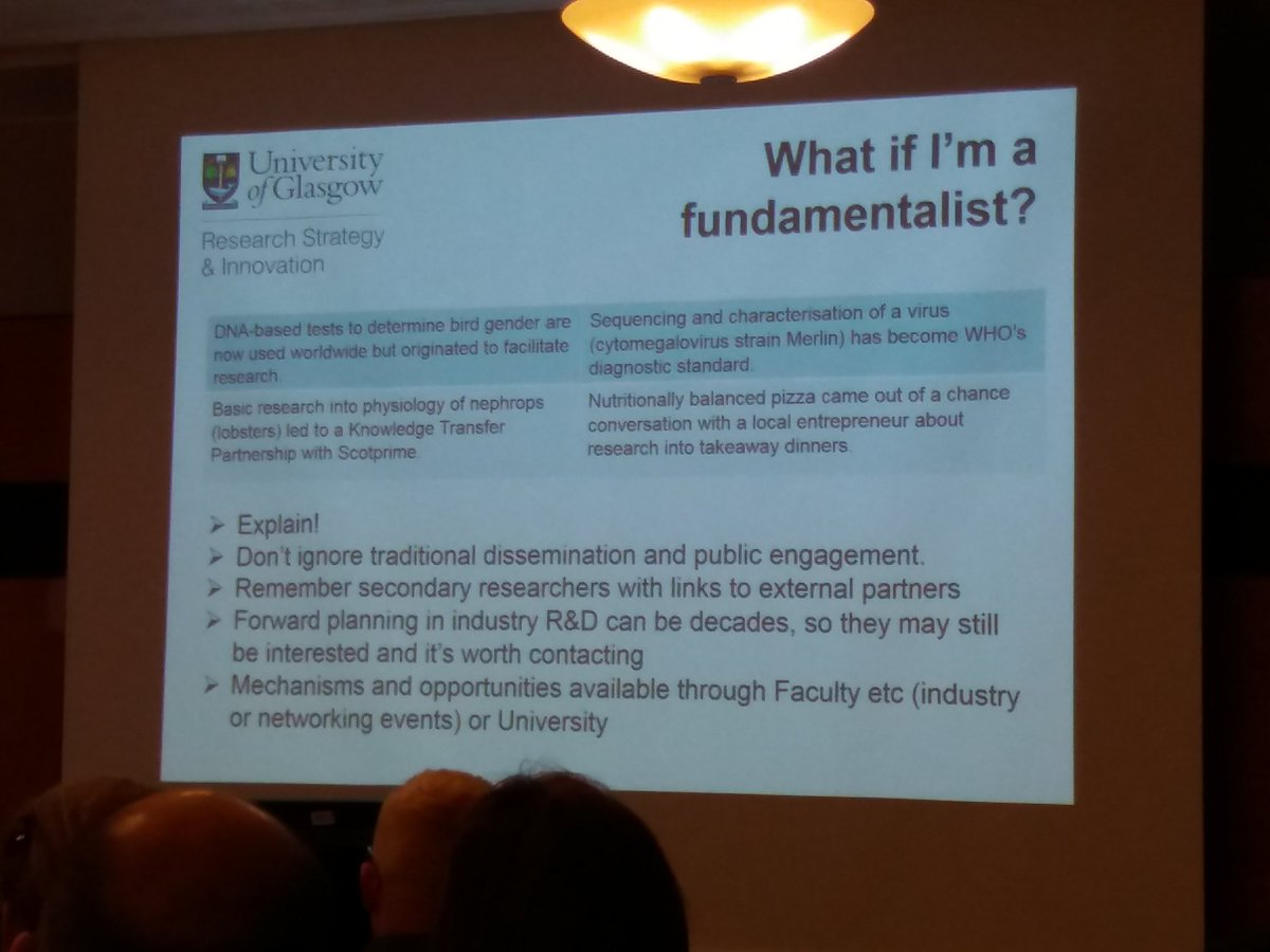 #researchimpact from fundamental research? Yes! With time and secondary researchers. #impacthelsinki event with @GlasgowUni<br>http://pic.twitter.com/dgLg9OPdfx