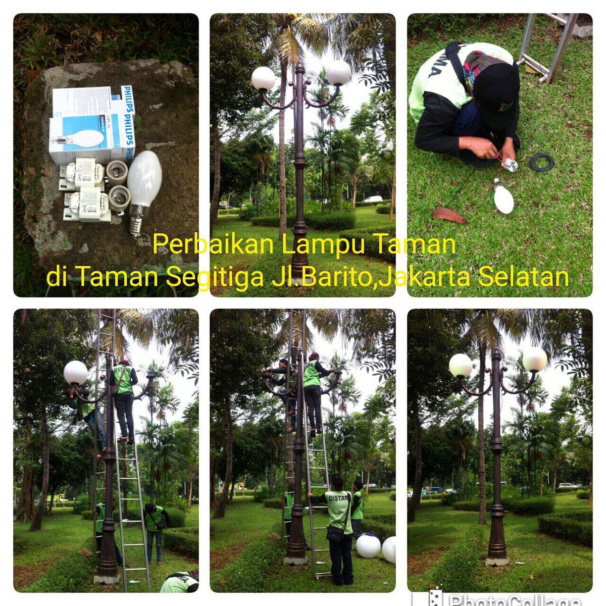 Dinaskehutanandki على تويتر Petugas Instalasi Dishut Lakukan Perbaikan Lampu Taman Taman Segitiga Jl Barito Jaksel Redqjunk