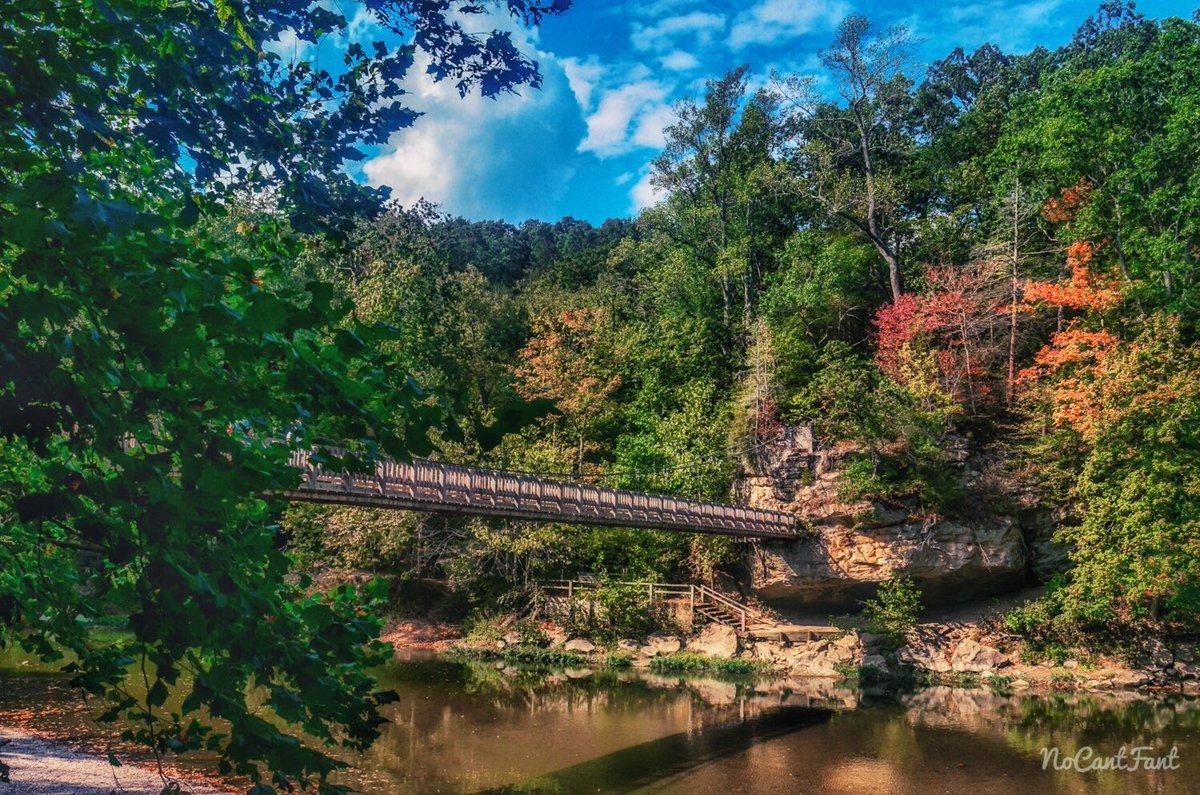 *Just a bridge with some color*Create Your World! #nomad #explore #usnomad #Indiana #turkeyrun #bridge #fall #river #hiking #NoCantFant <br>http://pic.twitter.com/gCwTI5YdFu