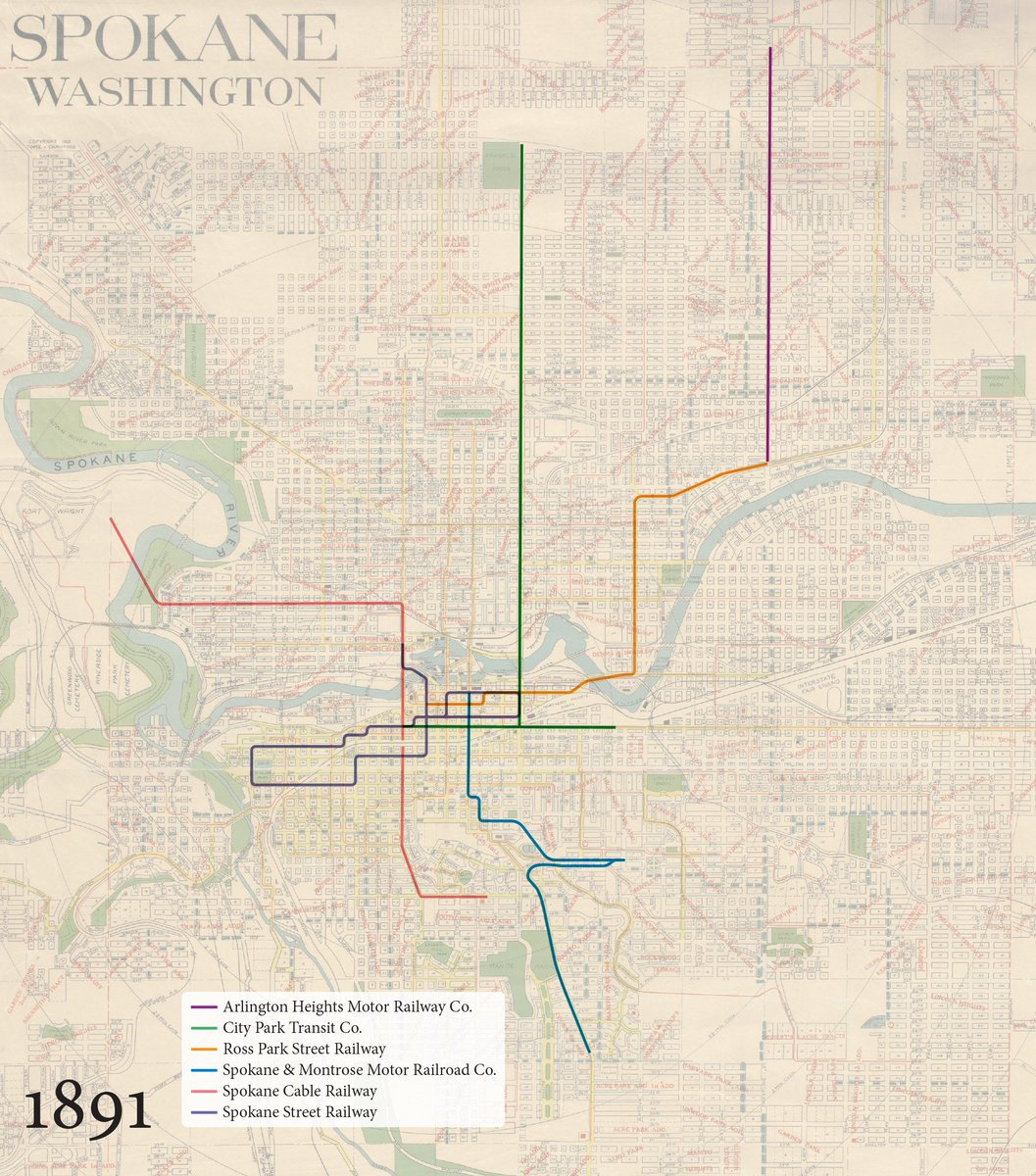 Transit Maps on Twitter A new Spokane streetcar map this time