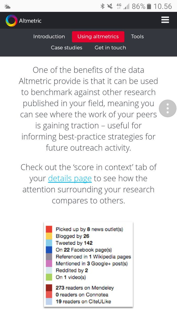 #altmetric gives a good idea which of your channels are effective #researchimpact #impacthelsinki @Akatemia_STN @helsinkiuni @NesslingSaatio<br>http://pic.twitter.com/ZLcaB4nuTV