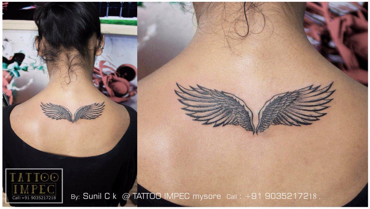 Tattoo Impec Mysore On Twitter Wings Tattoo Girl Tattoo Designs
