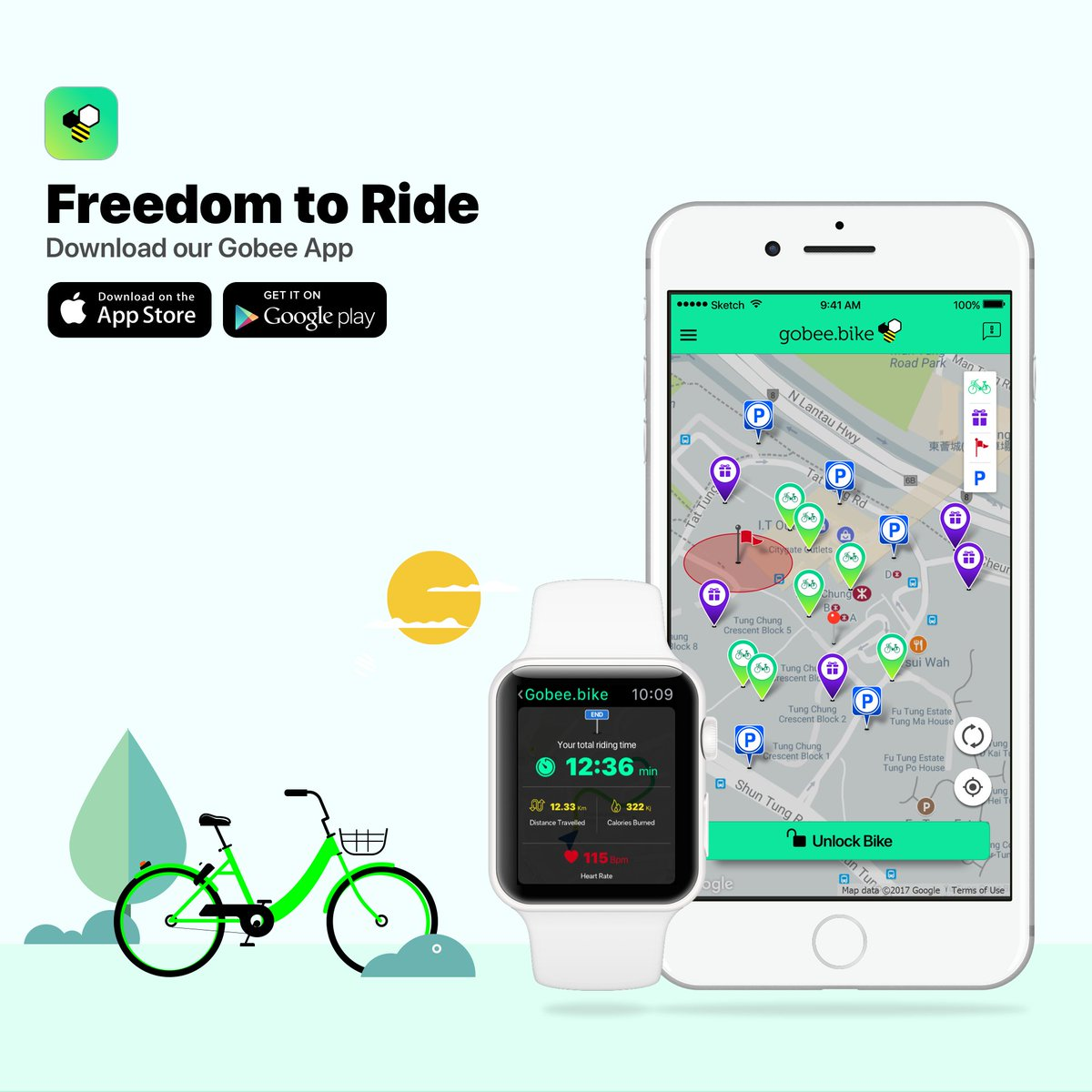 First bike sharing app to be available on the Apple Watch. Try it out now! #applewatch #bikeshare #IoT https://t.co/dyZxi9Zf7b