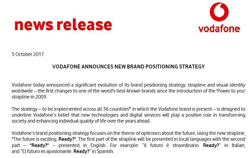 vodafone brand hypothesis