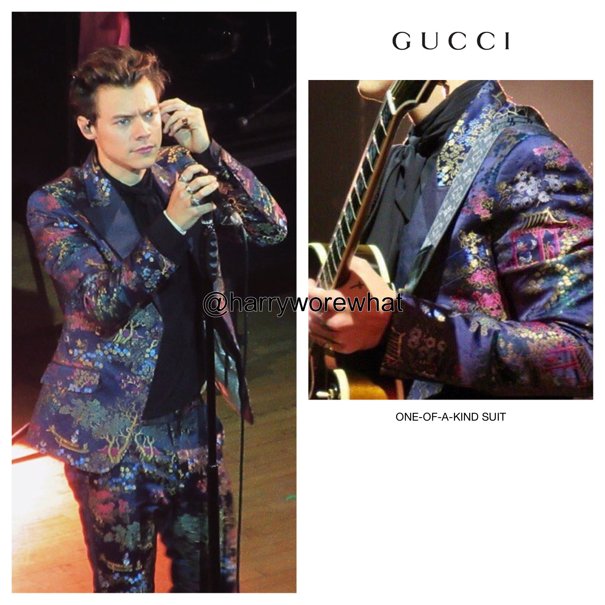 Harry Wore What on Twitter u0026quot;Harry wore a one-of-a-kind #Gucci suit while performing @MasseyHall ...