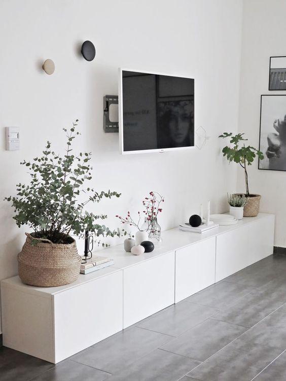 Ikea Besta house i d on besta blumen flachbildschirm ikea