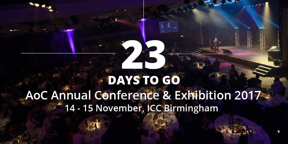 23 to go! Celebrate #FE success at the #AoCConf Awards Evening on Day 1  http://www. aocannualconference.co.uk / &nbsp;  <br>http://pic.twitter.com/Be0FKcqxDN