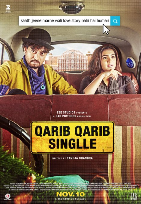 Let the journey of their love begin! #QaribQaribSinglleTrailer out tomorrow! #Parvathy @QQSTheFilm @ZeeStudios_ @JarPictures https://t.co/qhmn3CPEJ3