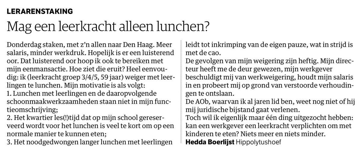 voorbeeld ingezonden brief Beter Onderwijs Nederland в Twitter: