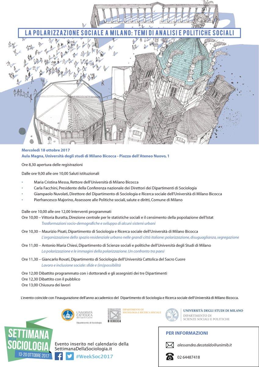 Calendario Unicatt.Sociologia Milano On Twitter La Polarizzazione Sociale A