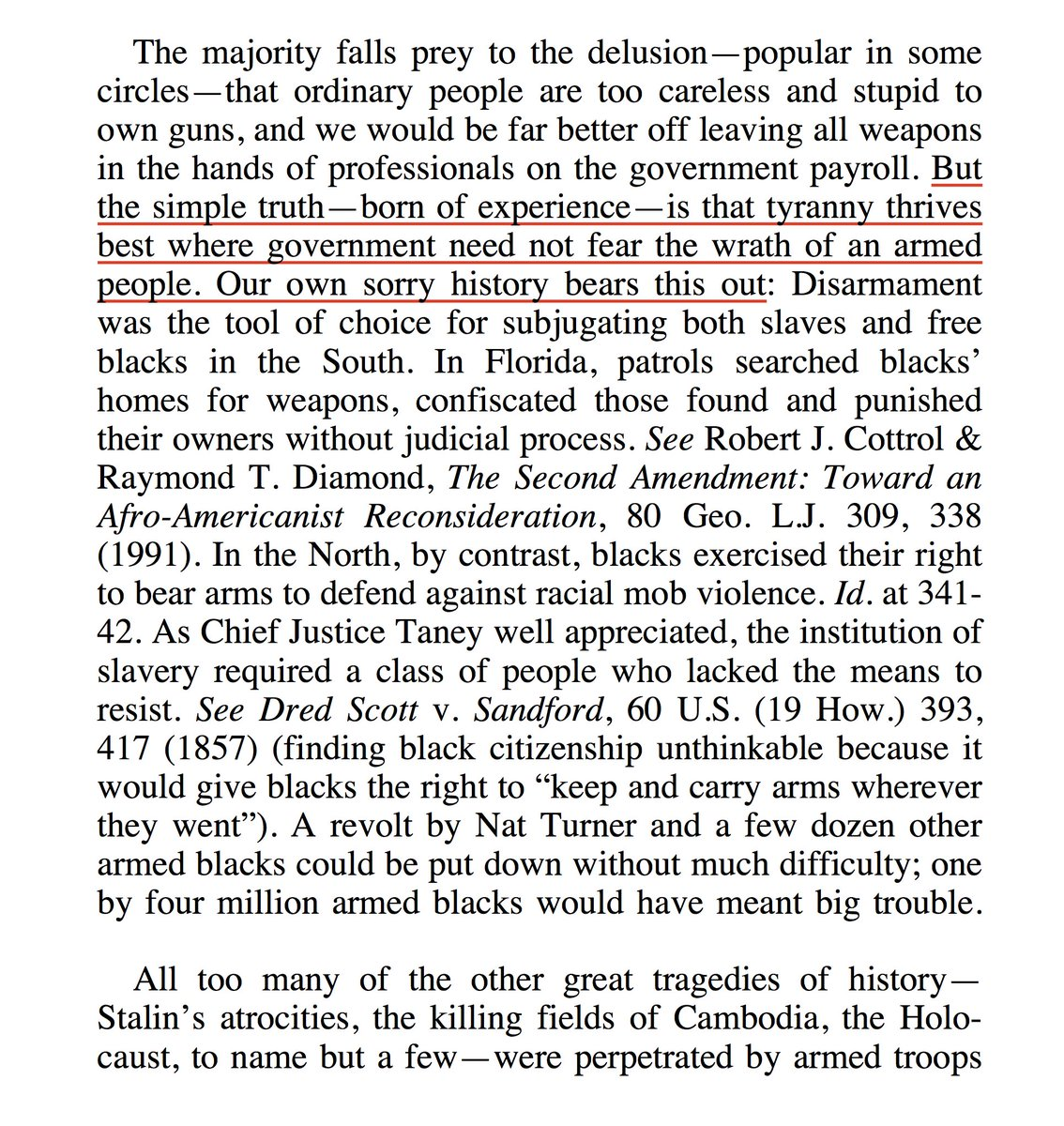 History, History, History! Learn from it. RT @PoliticalShort: Those wanting to repeal the Second Amendment should read Judge Kozinski's Dissenting Opinion in Silveira v. Lockyer http://keepandbeararms.com/silveira/EnBancOrder.pdf …