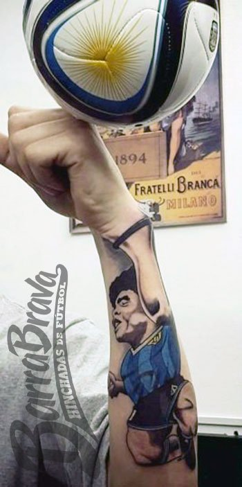 Barra Brava On Twitter Tremendo El Tatuaje La Mano De Dios