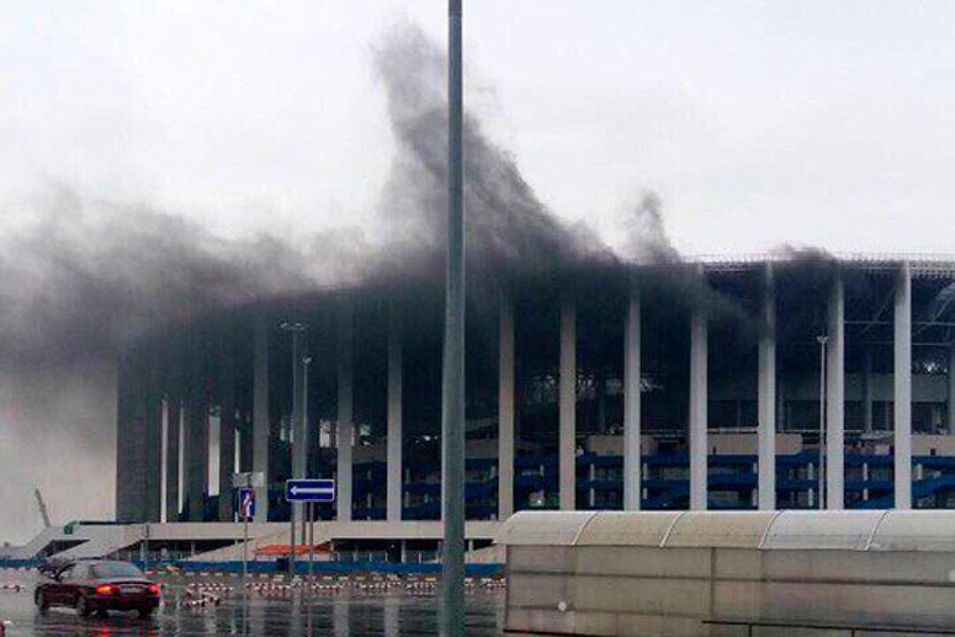 пожар стадион нижний новгород связи