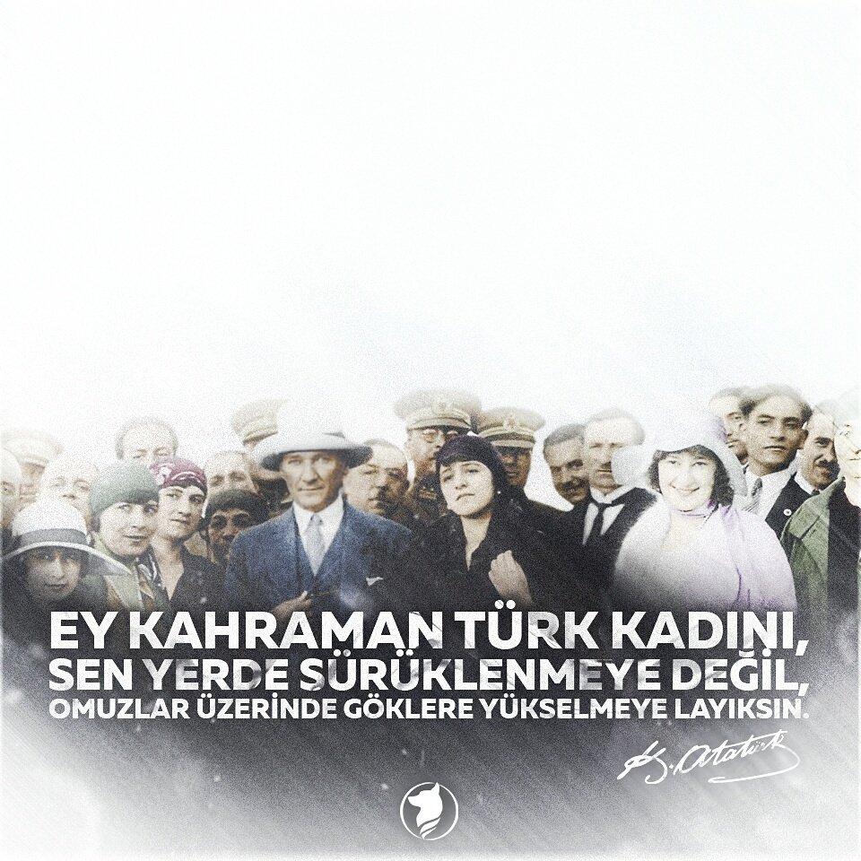 Turancı Grafik Twitterissä Ey Kahraman Türk Kadını Sen Yerde