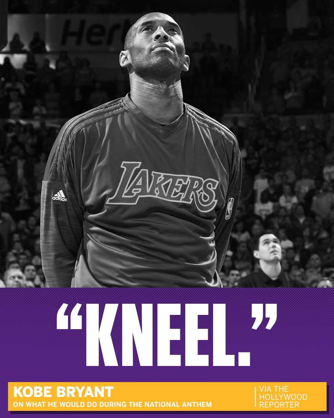 Kobe Bryant knows what he would do during the national anthem if he were still playing. https://t.co/rTwDXlHB7l