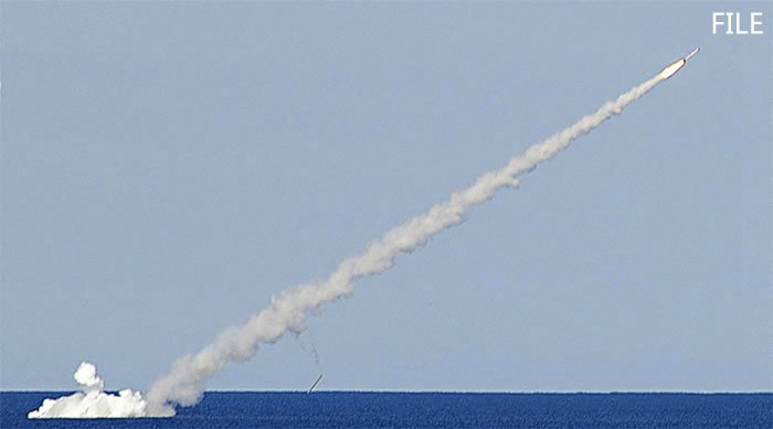 """#Russian submarines strike terrorist targets in #Syria with """"Kalibr"""" cruise missiles from Mediterranean Sea, RT reports"""