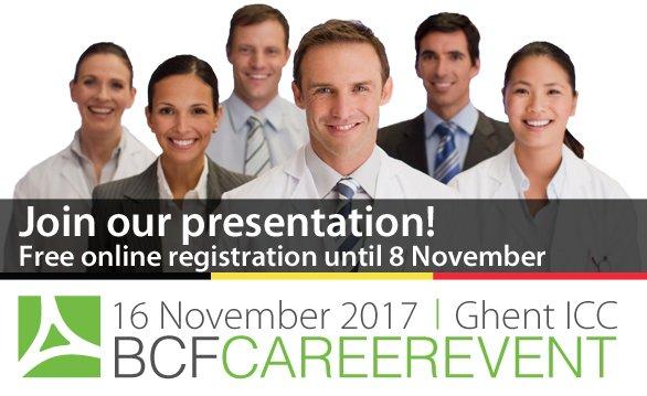 Jan Debaere @PwC_Belgium will present during @BCFbelgium, the career fair for Life Sciences 16 Nov. Sign in here: http://bit.ly/1QZIlzj