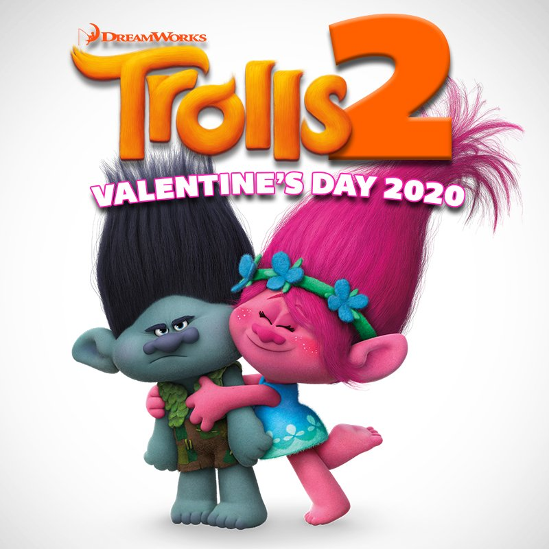 This calls for a hug! Trolls 2 comes to Regal Cinemas Valentine's Day 2020! #DreamWorksTrolls