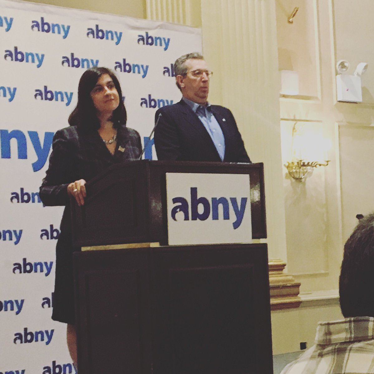 NYC Mayoral Candidate, Nicole Malliotakis addresses the crowd at  the @abetterny #powerbreakfast. https://t.co/SlQkAx1MH3