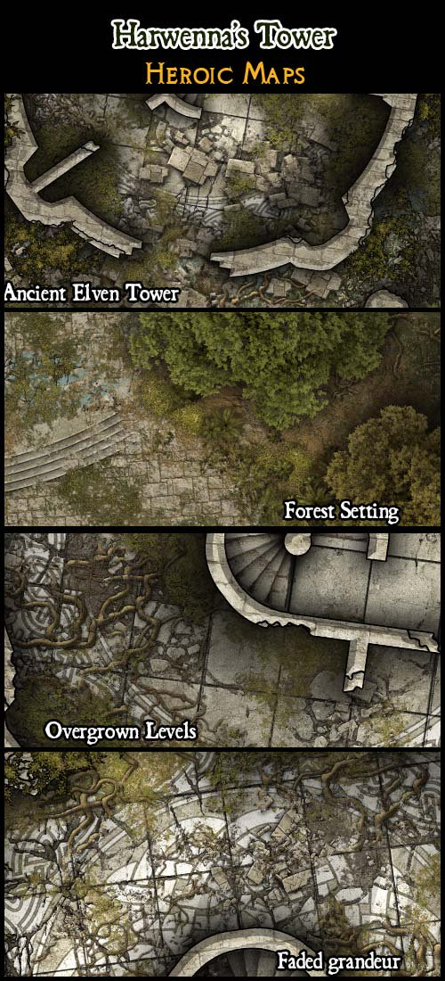 Heroic Maps On Twitter What Secrets Does The Ruined Elven Tower Hold Explore Harwenna S Tower Rpg Battlemap Drivethrurpg Pathfinder 5e Https T Co Vpdt7z6g0n Https T Co Zafdbf1bxh