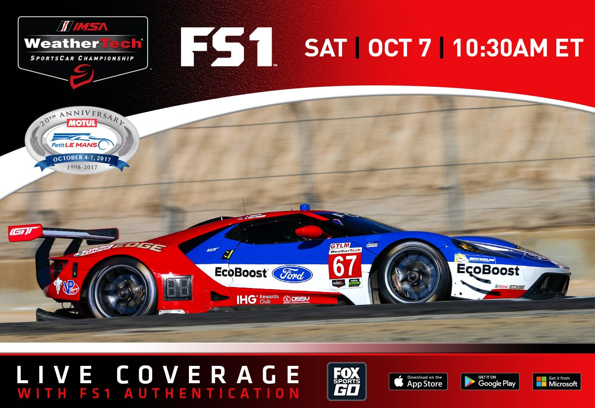 Ford Performance On Twitter The Fordgt Heads To Roadatlanta For The Imsa Season Finale Watch The Motulplm On Sunday Oct  On Fs And Fsgo At