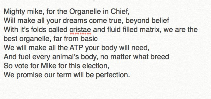 Mike Da Mitochondria On Twitter Organelleelection2017 OUR