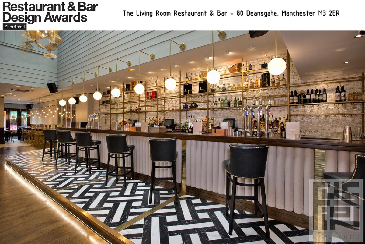 Fingers Crossed For Our Two Shortlisted Projects The Living Room Manchester Bar Category And Greyhound Carshalton Pub