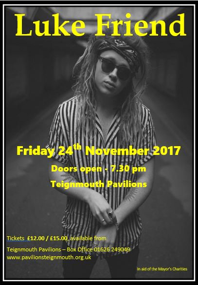 RT @PaulTeignmouth: @LukeFriendMusic  Hurry up Tickets selling fast for the Teignmouth gig  https://t.co/ZplFK0pvIY https://t.co/6BclehIQwd