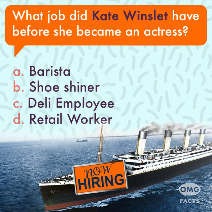 Happy Birthday, Kate Winslet! Check back in about an hour for the answer!